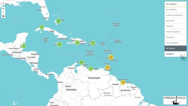 The Fresh Milk Map of Caribbean Art Spaces