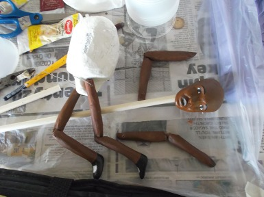 Beginnings of a puppet.