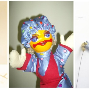 Puppets made by Cherise, demonstrating different techniques.