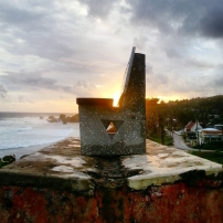 'Victoria' by Mark King installed at Bathsheba. Photograph by Peter Sandiford.