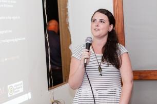 Natalie McGuire presenting at FRESH MILK XVII