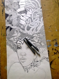Protector by Simone Padmore - Work in progress