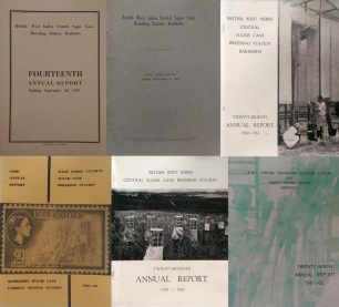 Front covers of WICSCBS annual reports, from the 1940s onwards