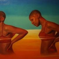 "Jordan Clarke, Spirit of the Wind, oil on canvas 36""x 60"", 2013."