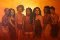 "Jordan Clarke, RISE, oil on canvas 48"" x 72"", 2013,"