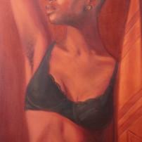 "Jordan Clarke, Untitled, oil on canvas 18"" x 36"", 2013."