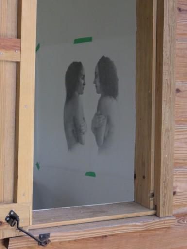 Jordan Clarke's work in the studio.