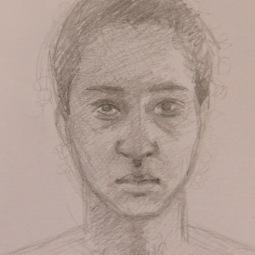 Self portrait study.