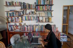 Katherine Kennedy in Casa Tomada's reading room. Image courtesy of Casa Tomada.