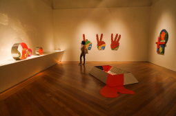 Shanika Grimes inside the Pinacoteca. Image courtesy of Casa Tomada.
