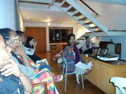 Shanika Grimes presenting her work. Image courtesy of the NCF
