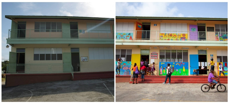 Workmans Primary School - before and after