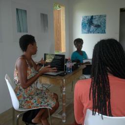 Yasmine Espert's workshop on grant writing.