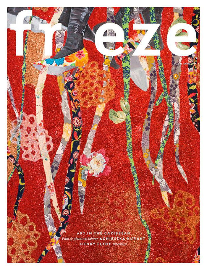 April 2014 issue of frieze – cover by Ebony G. Patterson, Strange Fruitz (detail), 2013. Courtesy: the artist, Lois & Chris Madison Collection, Pasedena and Monique Meloche Gallery, Chicago
