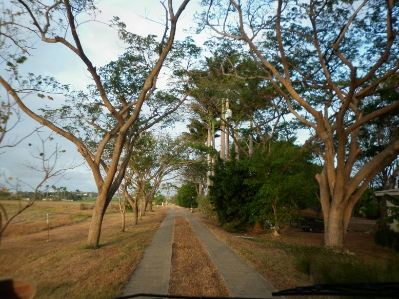 Driveway to the Fresh Milk residency flat in St. George