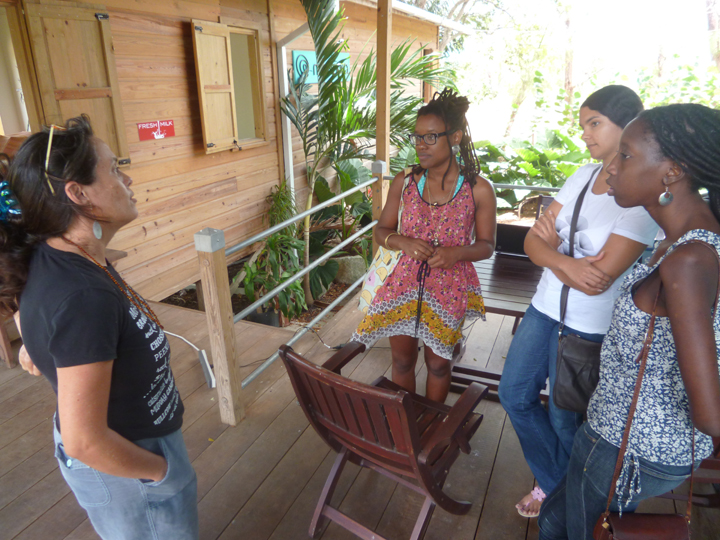 Meeting the team at Fresh Milk - Annalee Davis, Sheena Rose, Katherine Kennedy and Alicia Alleyne