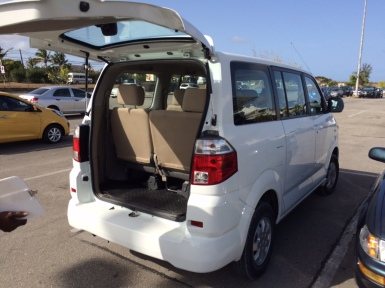 Top Car Rentals' complimentary van