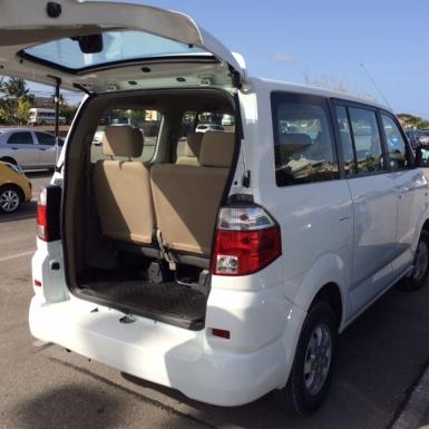 Top Car Rentals' complimentary van