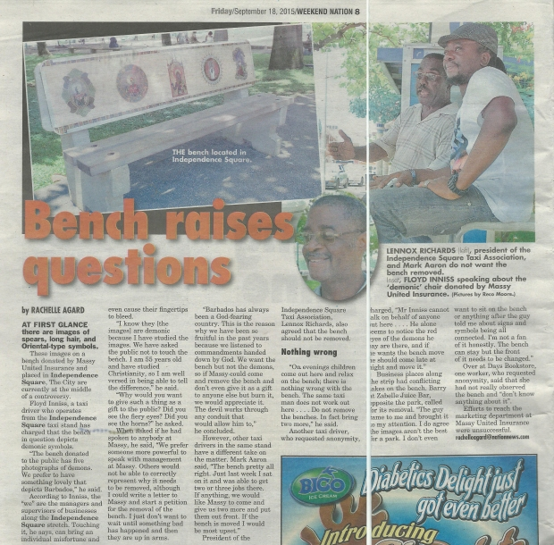 The article published in the Nation Newspaper on Friday, 18th September, 2015.