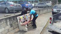 Installing Matthew Clarke's bench 'Hardears Universe'