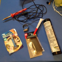 Soldering materials for a hydrophone cable