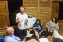 Ask Kaereby presenting his work
