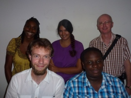 Front, L-R: Ask Kæreby and Immanuel Hunte. Back, L-R: Melanie Springer, Katherine Kennedy and Andre Woodvine