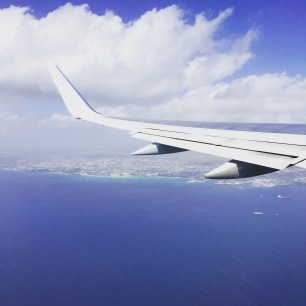 Flying over Barbados