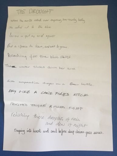 Class poem from The Art of the Book workshop