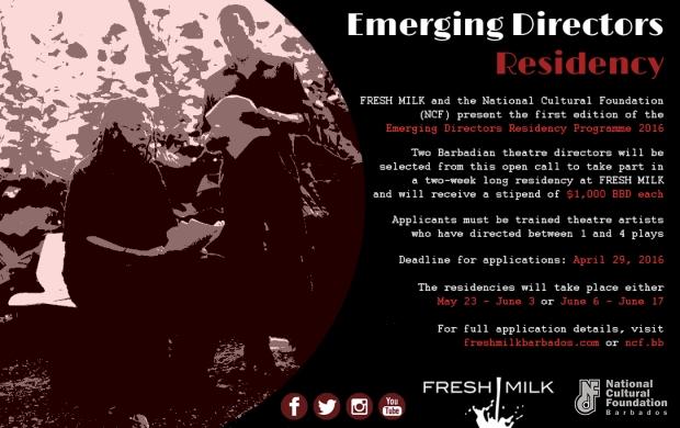FM-NCF Emerging Director Residency Flyer