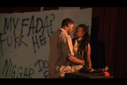 'De Angry Black Boy Tantrums' Scene: 'My Judical Family - Dre & Sista' Actors: Deevon Clinton ('Dre'), Ayesha NuRa Delpeche ('Sista') Dir. Matthew Kupakwashe Murrell