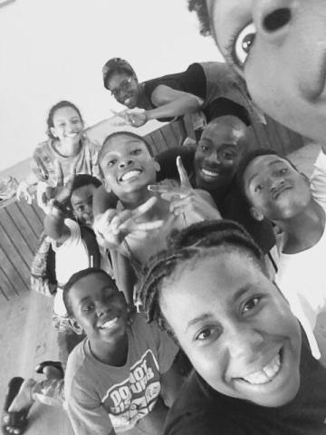 'Maco's Revenge' Selfie break during Mustardseed ensemble rehearsal Mustardseed Productions, 2016 Dir. Renelde Headley