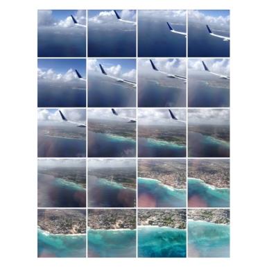 Flying into Barbados