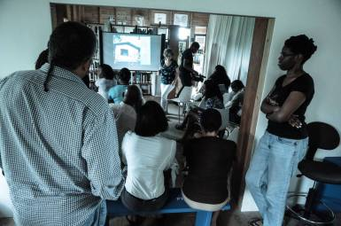 Presentation to delegates in a UNESCO workshop