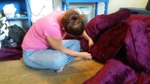 Raquel Marshall at work