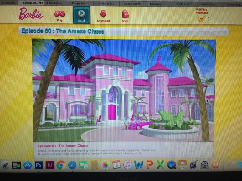 Shot of the Barbie website