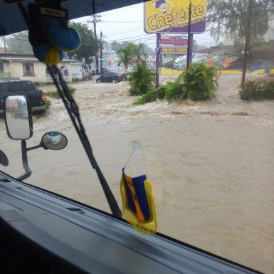 Flooding in Barbados (Images shared across a number of social media platforms)