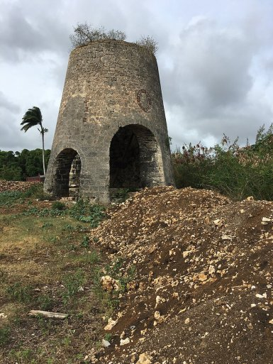 The remains of the mill on the grounds of Fresh Milk