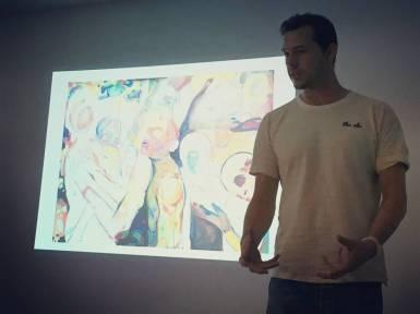 Philipp Pieroth presenting his work at BCC