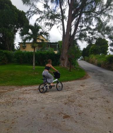UBP on bike.