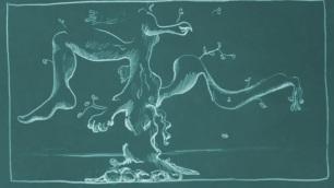 Daisy Diamond, Still from 'Garden Animation'. Hand drawn animation, 2017.