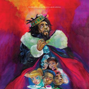 'KOD' album by J. Cole (Front)