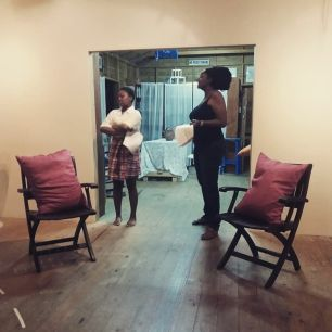 Melissa Hunte and Kim Weekes in a reading of 'Pretty Daughta' by Matthew Kupakwashe Murrell, Directed by Levi King.
