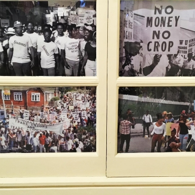 Detail from Insurgents: Redefining Rebellion in Barbados curated by Natalie Batson at the Barbados Museum and Historical Society.