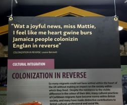 Colonization in Reverse - Panel in the Enigma of Arrival -The Politics and Poetics of Caribbean Migration to Britain Exhibit