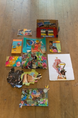 Collages made during the workshop 'Dis We Tings' facilitated by Ethan Knowles
