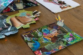 Collages made in the 'Dis We Tings' workshop
