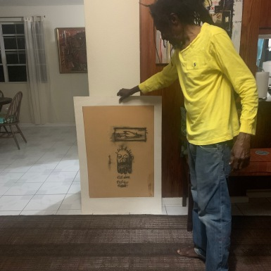 Studio visit with Ras Akyem Ramsay